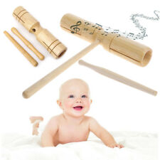 Wooden Two Tone Block Beater 2-tone Woodblock Guiro Wood Handle Percussion Toy
