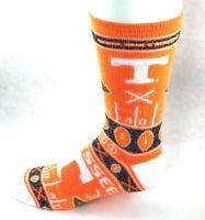 Tennessee Volunteers NCAA Orange White Ugly Sweater Crew Socks