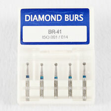 100pc fresas de diamante Dental High Speed Diamond Burs FG1.6mm Ball Round BR-41