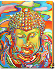 BUDDHA PAINTING - LARGE FINE ART GICLEE PRINT ON CANVAS