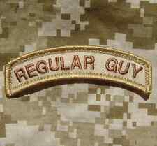 REGULAR GUY TAB ARMY COMBAT MILITARY US ISAF DESERT VELCRO® BRAND FASTENER PATCH