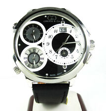 57mm Mens Curtis and Co Diamond Watch 4 Time Zone Jacob & co