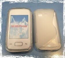 SAMSUNG S5300 Galaxy Pocket - Etui Housse Silicone Souple TRANSPARENT