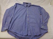 Tommy Hilfiger Men's Blue Striped Shirt TLC The Lifetime Collar 16 34-35 L