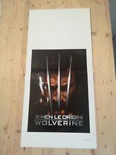 XMEN LE ORIGINI WOLVERINE Locandina Film 33x70 Poster Originale Cinema MARVEL DC