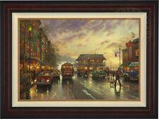 Thomas Kinkade City By The Bay 24 x 36  LE Canvas G/P  # 100 - Burl Frame
