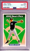 1993 TOPPS DEREK JETER ROOKIE CARD RC #98 1992 DRAFT PICK YANKEES - PSA 10