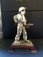 """Royal Hampshire """"Royal Corps Of Signals"""" Silver Pewter Figure"""