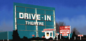 Blair Line (N-Scale) #068 Drive-In Theatre * Wood Laser cut Kit - NIB