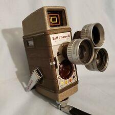 Bell & Howell 8mm 252 movie camera, multiple lens, VINTAGE CAMERA.