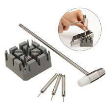 5Pcs Watch Band Strap Holder Hammer Punch Link Pins Remover Repair Tool Kit Set