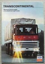 FOLLETO De Ventas Camiones Ford Transcontinental Julio de 1975 #FB555
