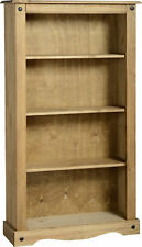 Corona Solid Medium Bookcase Distressed Wax Pine