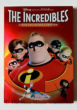 Disney Pixar The Incredibles 2 Disc Collector's Edition Dvd w/ Perfect Slipcover