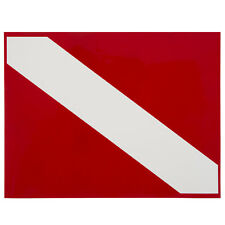Trident Large, High Gloss Vinyl SCUBA Sticker: 8.5 x 11 Inch, Diver Down Flag