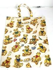 Retro Teddy Bear Oilcloth Tote Bag by Ulster Weavers, Hardly Used - VGC