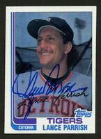 Lance Parrish #535 signed autograph auto 1982 Topps Baseball Trading Card
