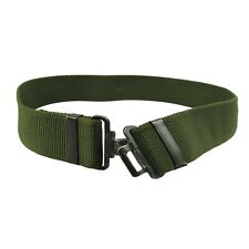 More details for genuine british army belt military tactical cadet combat trouser webbing green