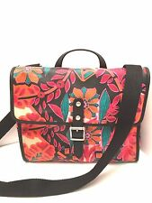Fossil Woman's Handbag Multi-Color *Keeper Flap Floral* Shoulder Purse Tote $88