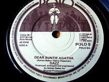 "DAZZ - DEAR AUNTIE AGATHA / EVERYTHING'S ELECTRIC  7"" VINYL"