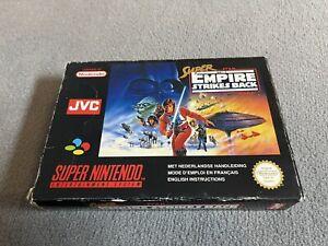 Super Star Wars The Empire Strikes Back FAH Avec Notice UKV Super Nintendo Snes