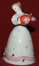 Vintage Hand Made Soviet Russian Dulevo Porcelain Girl with Cat Figurine