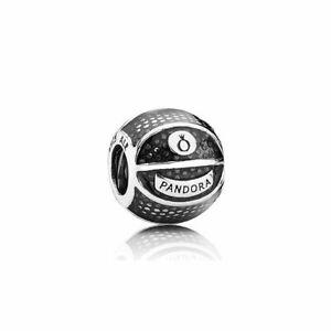 Genuine Pandora Sterling Silver Basketball Charm 791201EN44  Retired