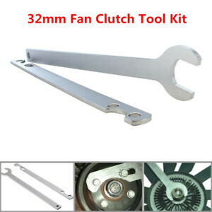 32mm Vehicle Fan Clutch Nut Wrench Remover Water Pump Holder Tool Kit For BMW