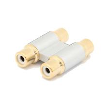 Coupleur 2 RCA Femelle vers 2 RCA Femelle Qualité Professionnelle Contacts DORE