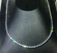 36Ct Round Attractive Cut D/VVS1 Diamond Tennis Necklace 14K White Gold Finish