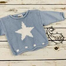 Jack Rabbit Creation Boys Sweater Blue Size 0-6 Months Star Pullover