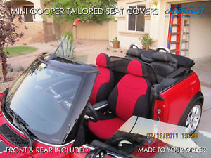 Mini Cooper Coverking Neosupreme Custom Fit Front & Rear Seat Covers