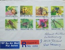 L) 1985 SINGAPORE, ANIMALS, INSECTS, NATURE, FLOWER, MULTIPLE STAMPS, CIRUCLATED