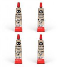 4x K2 Silikon Silikon Hochtemperatur Dichtmasse +350° rot 21g