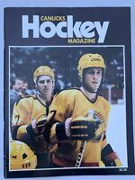 NHL Vancouver Canucks Hockey Magazine - Jan-Feb 1987 Petri Skriko