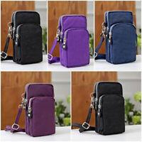 Purse Wallet Unisex Cross-body Mobile Phone Shoulder Bag Pouch Case Belt Handbag