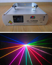 250mW RGB Stage Light Laser Lighting Red+Green+Blue Mix Full-color Beam DMX9CH