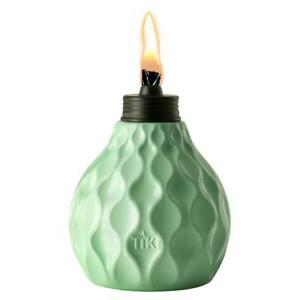 Tiki Table Torch  6 in. Marine Glass Seaside Escape  Blue  For Outdoor Use