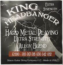 King Headbanger Hard Metal Playing Electric Guitar Strings KH100 gauges 10-52