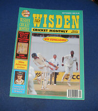 WISDEN CRICKET MONTHLY SEPTEMBER 1995 - ENGLAND BATTLE TO OLD TRAFFORD VICTORY