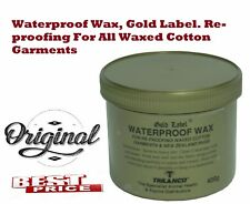 Gold Label Wax Waterproof 400g Clothing Care for Re-Proofing Waxed Cotton
