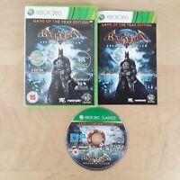 BATMAN ARKHAM ASYLUM GAME OF THE YEAR EDITION XBOX 360 PAL COMPLETE FREE P&P