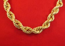 """30"""" 20MM 14KT GOLD  EP HEAVY RUN DMC BLING BLING ROPE CHAIN NECKLACE"""