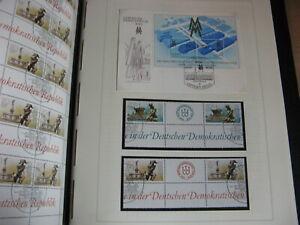 DDR Album Spezial Dual 1988-90 **, ZD, Blöcke, Einheiten, FDC, Briefe