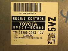 2000 Toyota Tundra 3.4 4X2 AT ecu ecm engine control module computer 89661-0C060