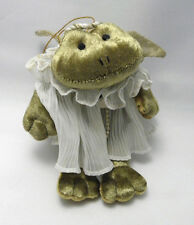 Angelique Victorian Frog Russ Berrie Retired Angel White Dress Pearls #2047 VTG