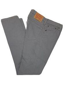 Levi's 510 Mens Size 31 x 32 Light Wash gray Skinny Fit Denim Jeans