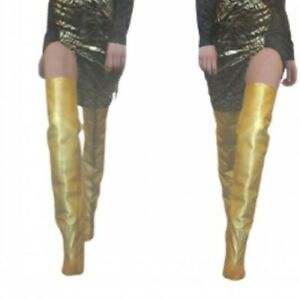 Pointy Toe Stiletto Heel Over The Knee Thigh High Dress Clubwear Women's Boots