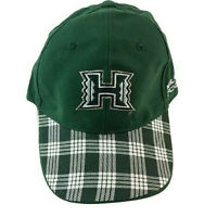 University of Hawaii Rainbow Warriors Green Plaid Embroidered Strapback Hat