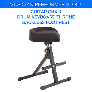 DL Portable Musician Performer Stool Guitar Chair Drum Keyboard foldable Throne